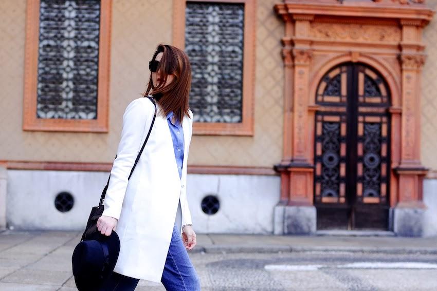 cappotto lungo bianco outfit idea fashion blog