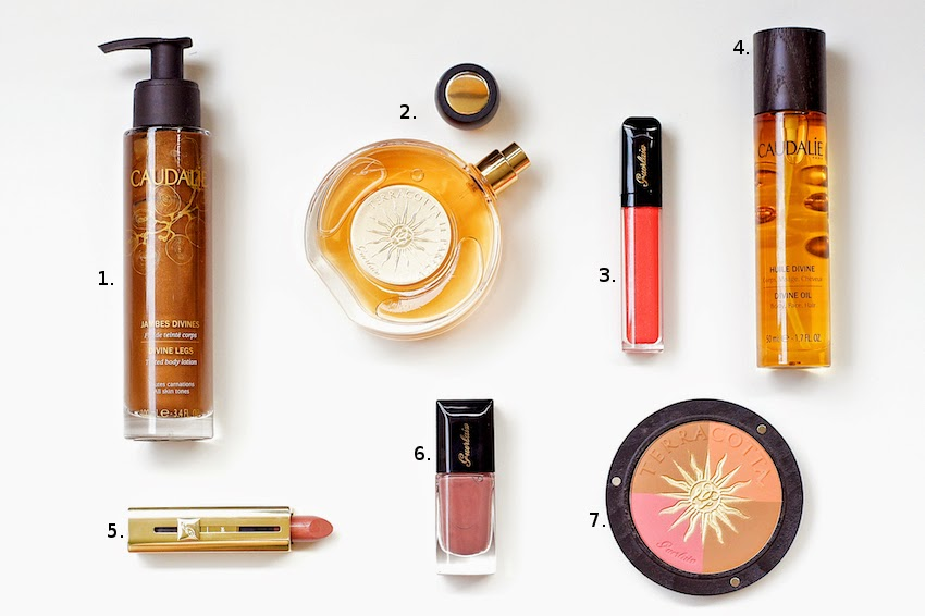 guerlain terracotta summer collection with le parfum limited edtion and sun celebration bronzer, plus some awesome products from Caudalie divine collection