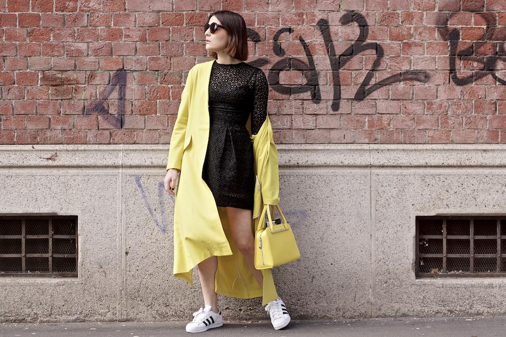 Yellow Outfit - Milano Fashion Week Street style, Irene Buffa