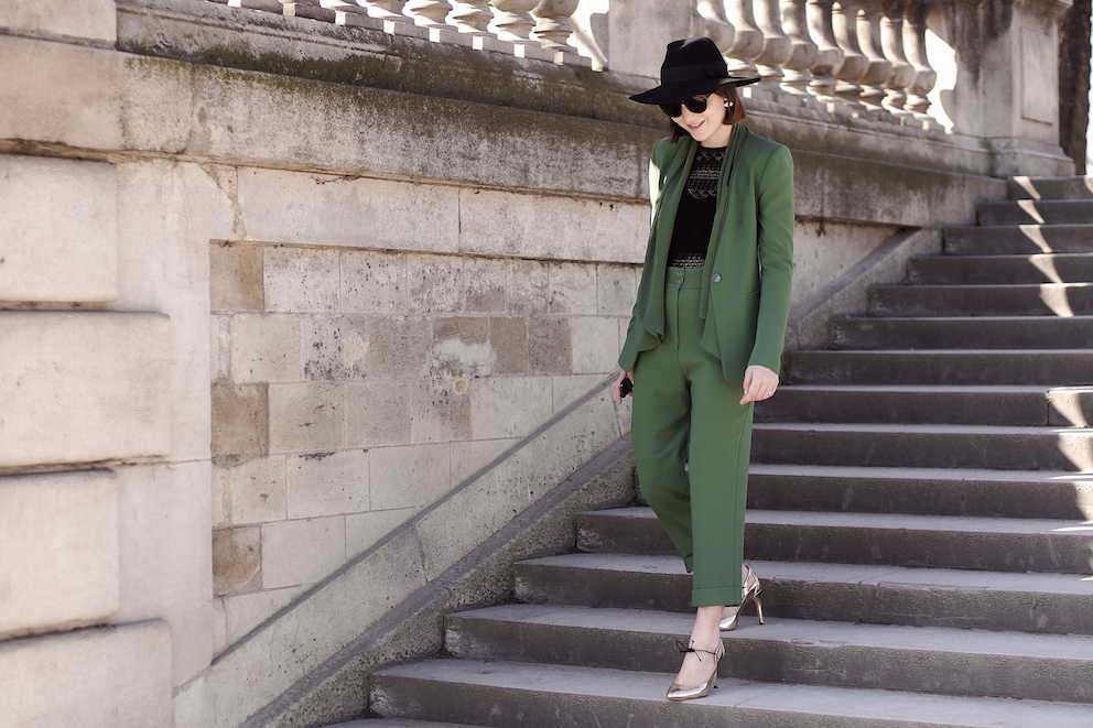 green suit streetstyle outfit - irene buffa