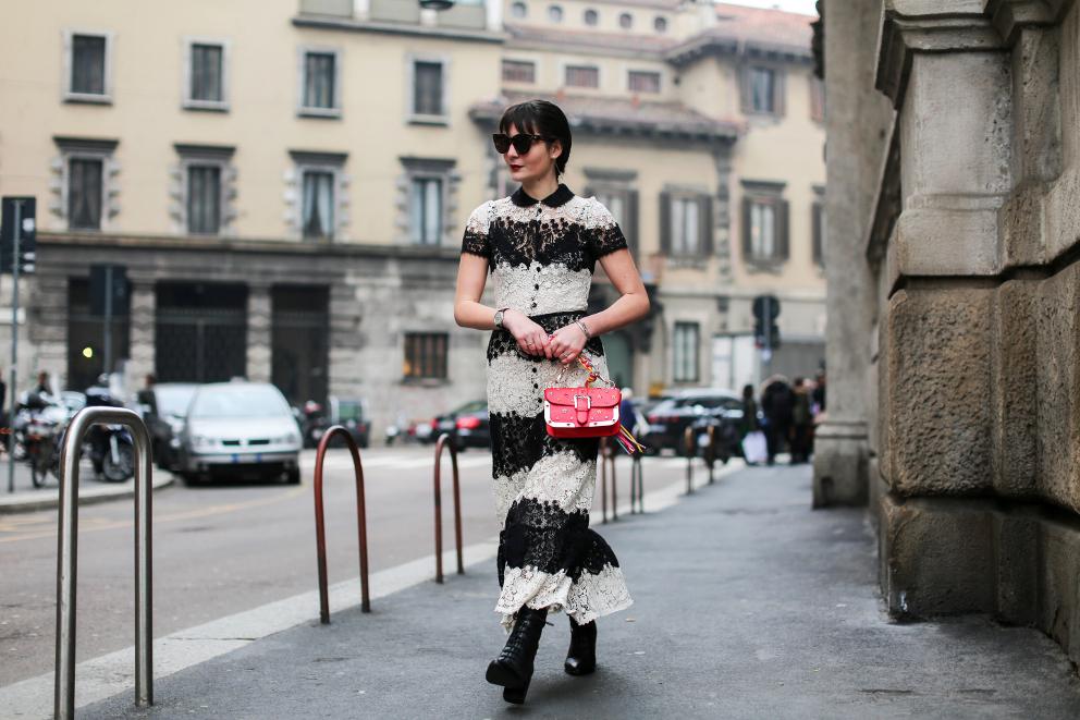 Red Valentino Dress Irene Buffa Milan Fashion Week