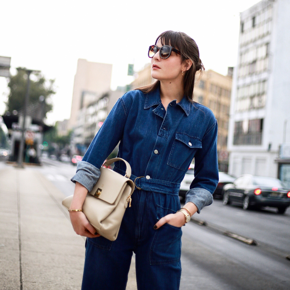denim jumpsuit irene buffa