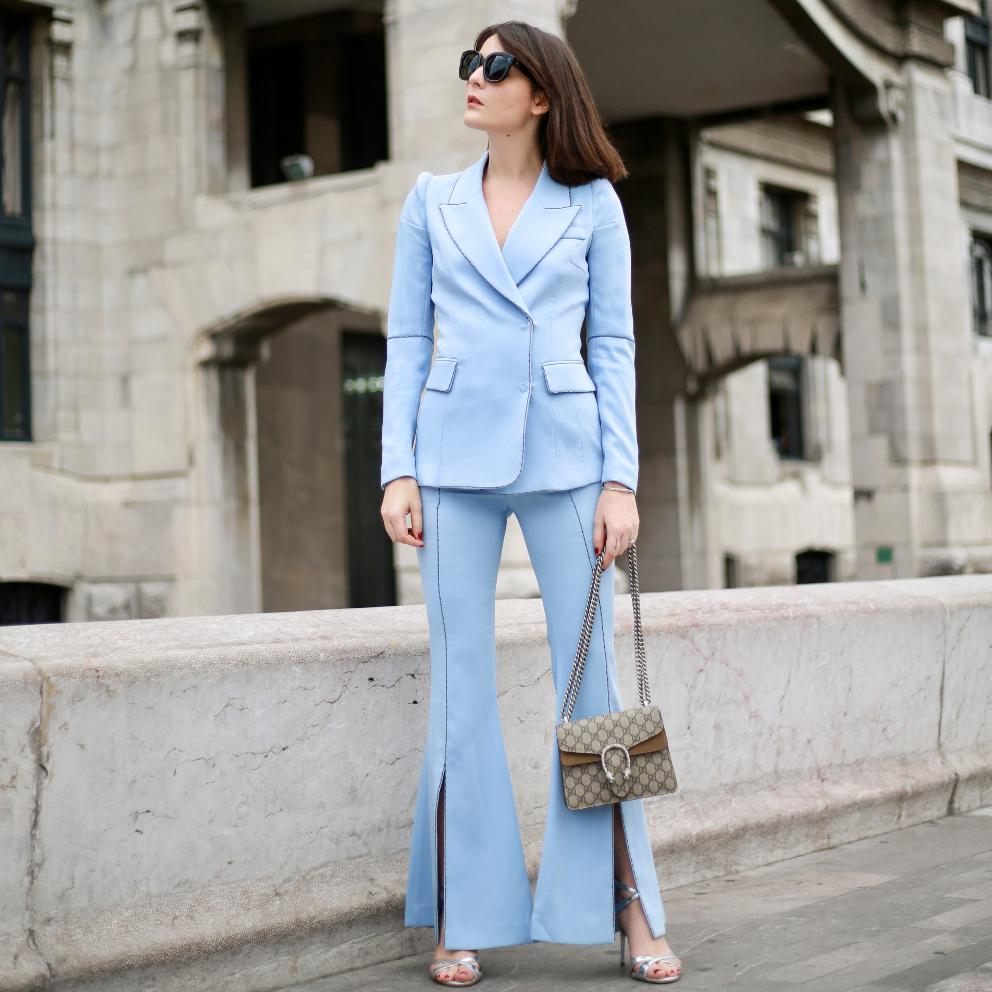 Baby Blue Suit - Irene Buffa Omw Magazine