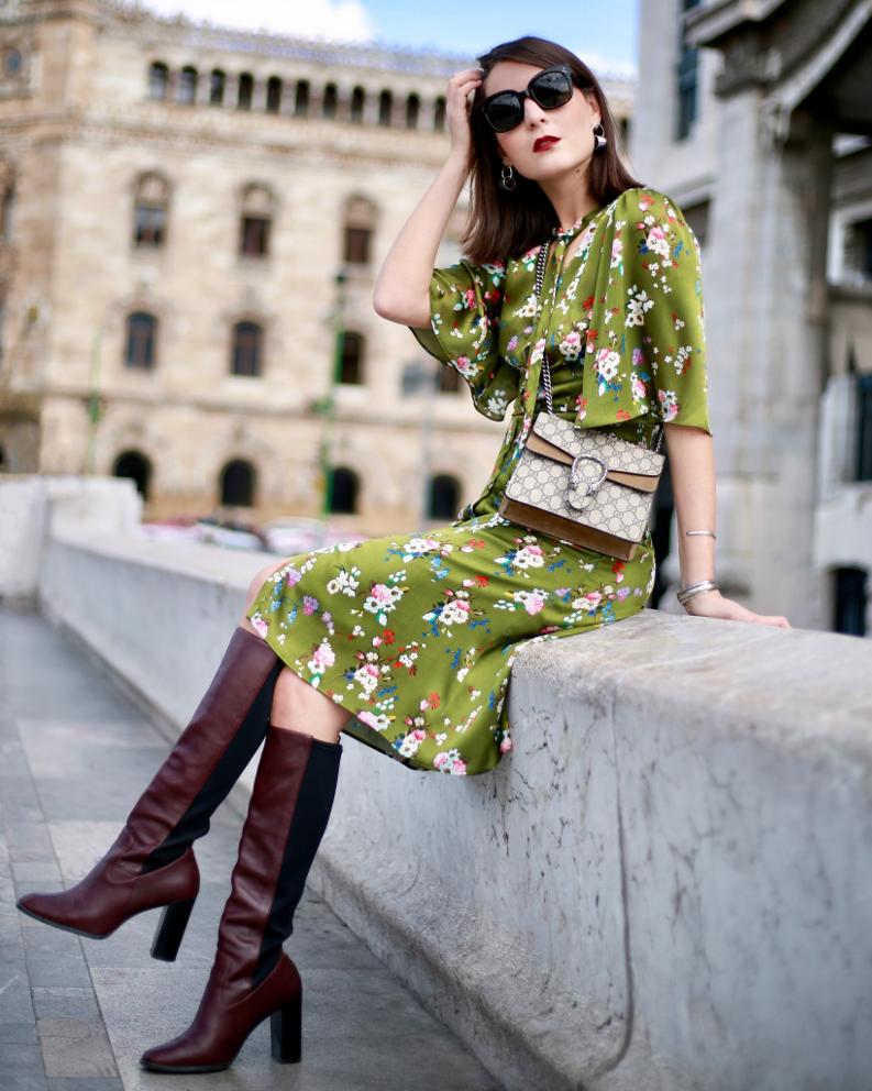 mango printed dress irene buffa fashion blogger